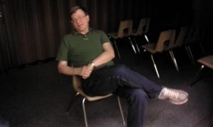 Walter relaxing between rounds